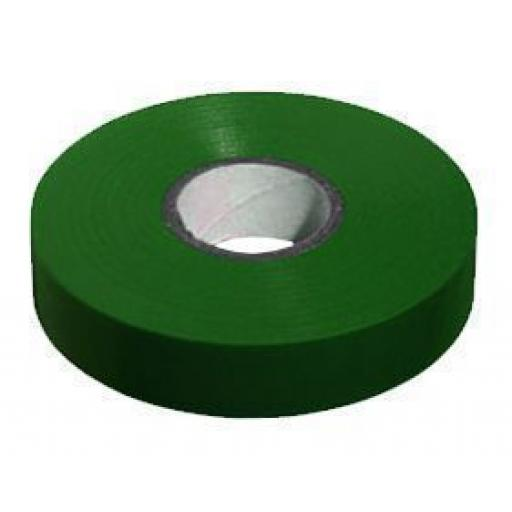 PVC insulation Tape BS3924 Green 19mm X 20m - Wide Electrical Insulating Flame Retardant Cable Repair Electric Wiring Colour