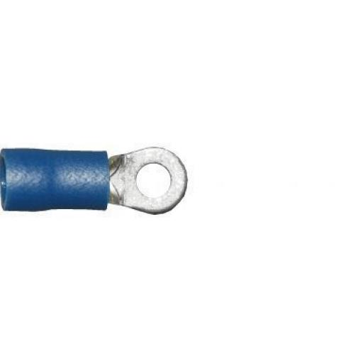 Blue Ring 3.7mm (4BA) (crimps terminals) -  Blue Car Auto Van Wiring Crimp Electrical Crimping Ring Connectors - Auto Electric Cable Wire
