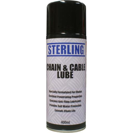 Sterling Chain and Cable Lube Aerosol/Spray (400ml) - Lubrication Bike Car Motorcycle Spray Can