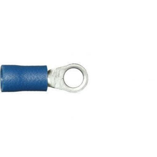 Blue Ring 4.3mm (3BA) (crimps terminals) -  Blue Car Auto Van Wiring Crimp Electrical Crimping Ring Connectors - Auto Electric Cable Wire