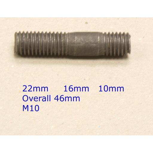 Stud M10 x 46 - Ford (20) Car Auto Exhaust Manifold Studs