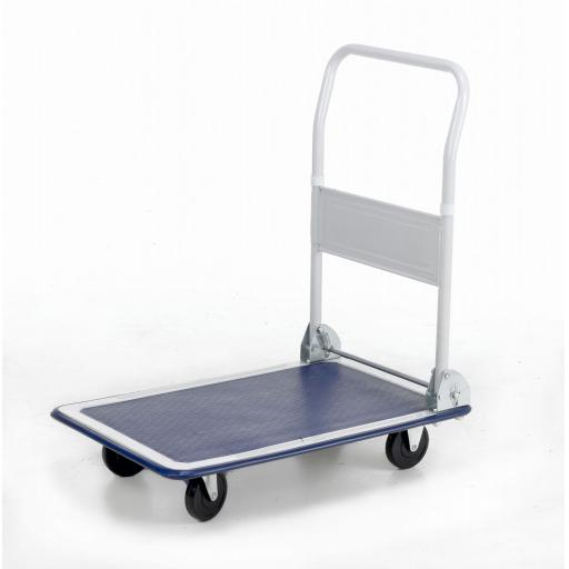 Folding Flat Bed Trolley - Platform Hand Trolley Truck Sack Cart Flat Bed Fold 150kg Transport