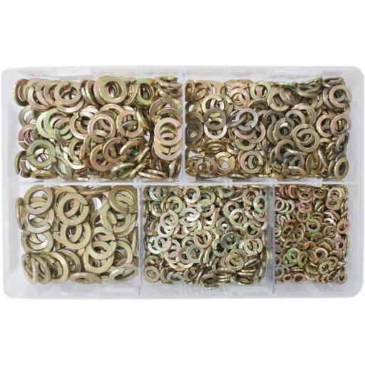 Assorted Spring Washers M5-M12 (1000) used with Nuts and Flat Washers 8.8 High Tensile Fasteners Bolts Set Screws Metric