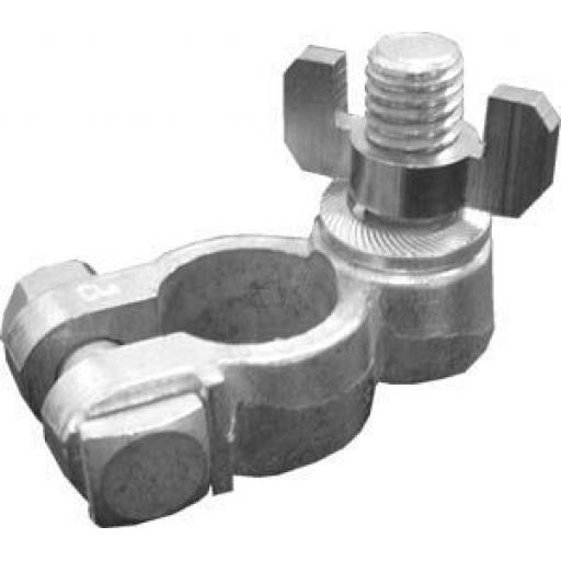 Battery Terminals Stud Wingnut Negative - 10mm stud Terminals Connectors Cable Clamp