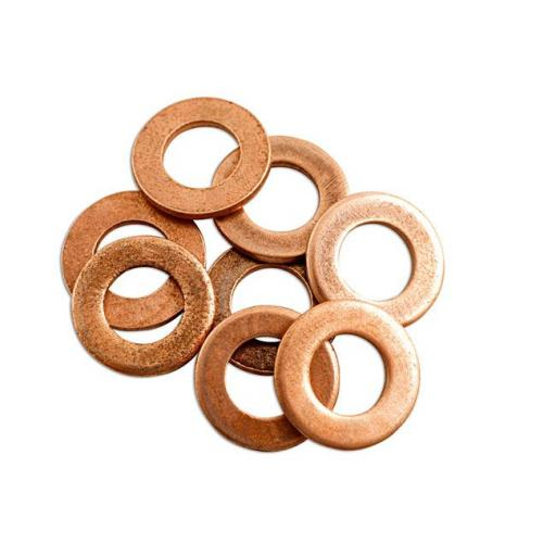 "Copper Sealing Washer 1/2 x 1"" x 16g Flat Seal Washer Sump Plug Drain Gasket"