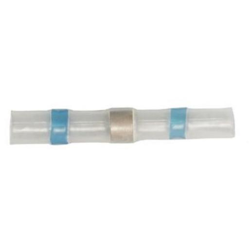 Heatshrink Solder Splice - Blue (16-14 gauge)(25)- Waterproof Seal Sleeve Heat Shrink Butt Wire Splice Connector Terminals