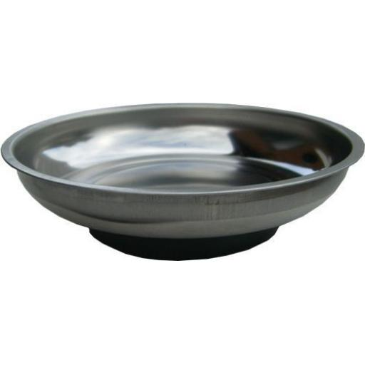 Silverline Magnetic Parts Bowl 145mm diameter - Storage  Holder Tray Dish for Holding Nuts Bolts Screws