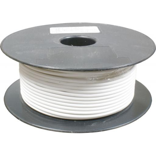 Single Core Cable 28/030 x 50m White - Car Van Truck Tractor lorry Automotive Auto Electric Marine Cable Round Trailer Wire Wiring  PVC