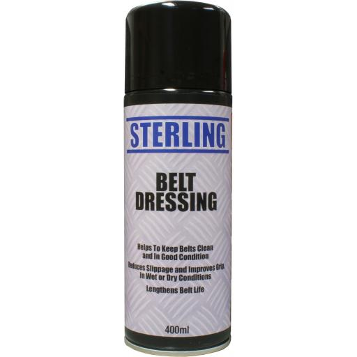 Sterling Belt Dressing Aerosol/Spray (400ml) - Anti Slip Belt Stops Belt Squeal Stops Slippage