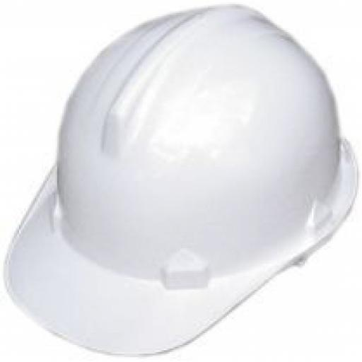 Safety Helmet (White Only)  Hard Hat Head Protection Builders Construction Building Work