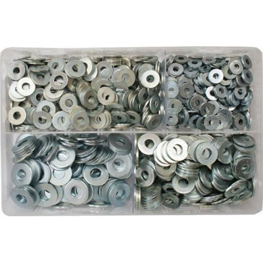 Assorted Flat Washers 3/16-3/8 (1000) used with Nuts and Flat Washers 8.8 High Tensile Fasteners Bolts Set Screws Imperial