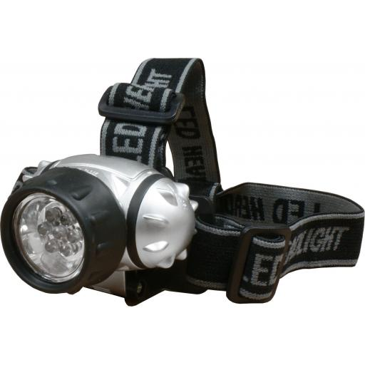 7-LED Head Torch Light (3 x AAA batteries inc)