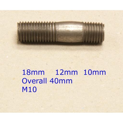 Stud M10 x 39 (fine) - Honda (20) Car Auto Exhaust Manifold Studs